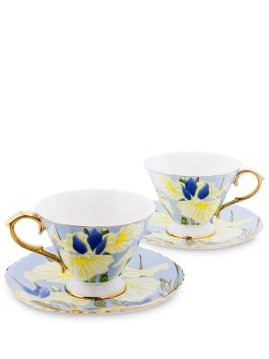 Чайный н-р на 2 перс. Фиор Дель Аморе (Pavone) Pavone. Цвет: синий