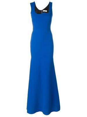 Платье с абстрактным вырезом Victoria Beckham. Цвет: синий