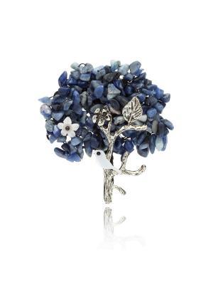 Брошь Райский сад (фиолетовая) Honey Jewelry. Цвет: фиолетовый