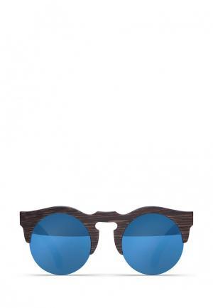 Солнцезащитные очки Woodsun. Цвет: синий