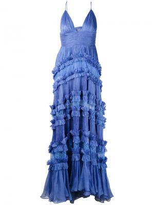 Кружевное платье Maria Lucia Hohan. Цвет: розовый и фиолетовый