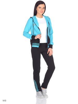 Костюм женский (джемпер, брюки) MARSOFINA. Цвет: черный, бирюзовый