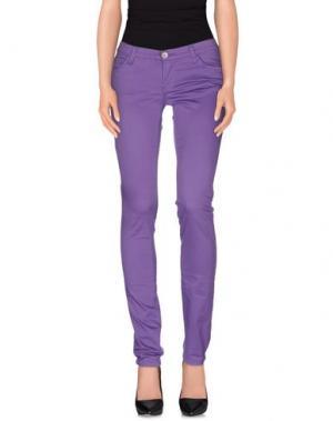 Повседневные брюки MER DU NORD. Цвет: фиолетовый