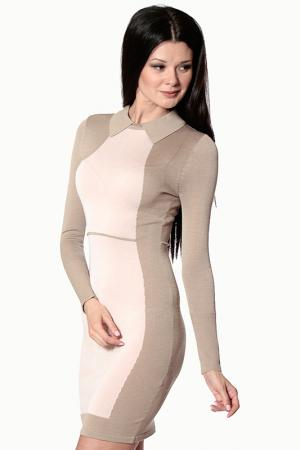 Платье Aftershock. Цвет: бежевый