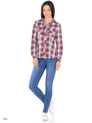 Рубашка HomeLike. Цвет: серый, бордовый