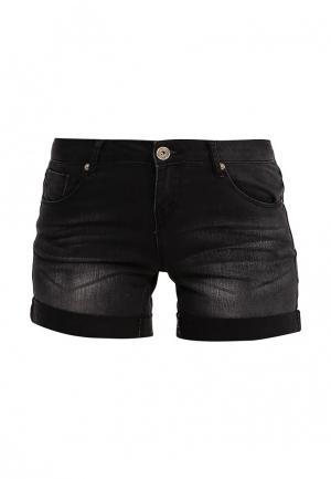 Шорты джинсовые oodji. Цвет: черный