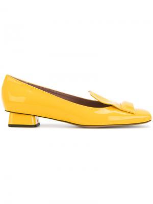 Лоферы с квадратным носком Rayne. Цвет: жёлтый и оранжевый