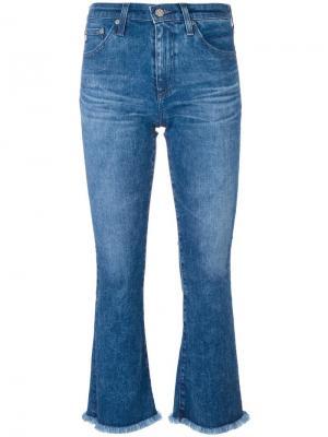 Укороченные джинсы Jodi Ag Jeans. Цвет: синий