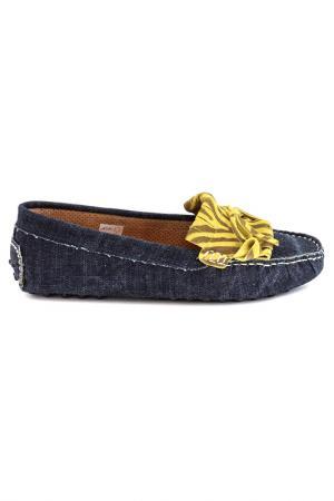 Мокасины Elena. Цвет: джинсовый, синий