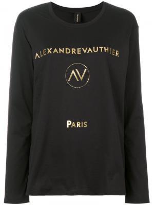 Футболка с логотипом Alexandre Vauthier. Цвет: чёрный