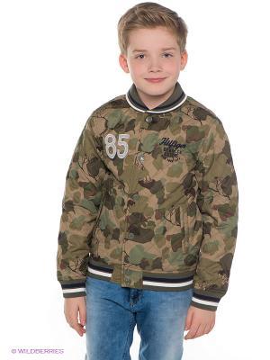 Куртка Tommy Hilfiger. Цвет: темно-бежевый, хаки, коричневый