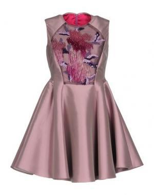Короткое платье IVAN MONTESI. Цвет: светло-фиолетовый