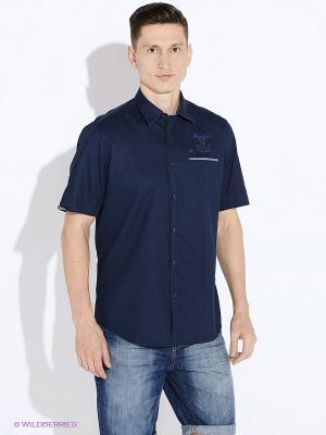 Рубашка LERROS. Цвет: темно-синий