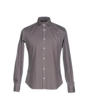 Pубашка MASSIMO BRUNELLI. Цвет: темно-коричневый