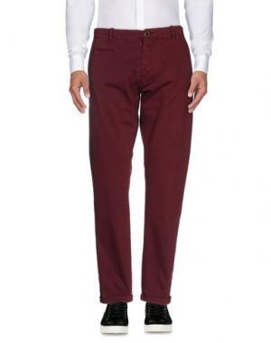 Повседневные брюки ALFONSO RAY. Цвет: красно-коричневый