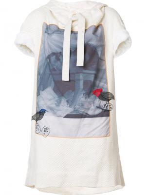 Платье-футболка с принтом Bernhard Willhelm. Цвет: белый