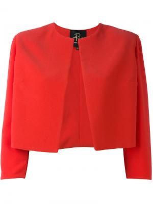 Укороченный пиджак Rhea Costa. Цвет: красный