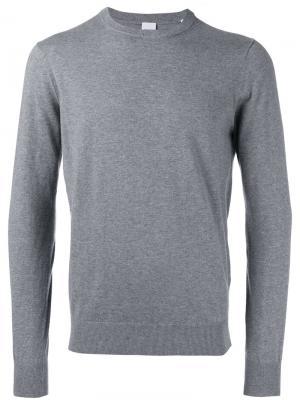 Классический свитер с круглым вырезом Aspesi. Цвет: серый