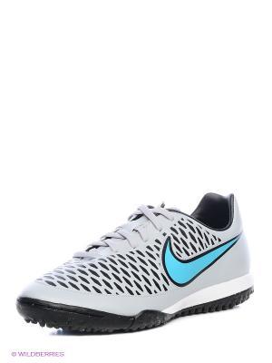 Шиповки MAGISTA ONDA TF Nike. Цвет: серый, голубой