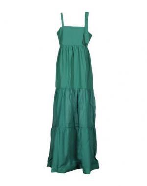Длинное платье PINKO. Цвет: зеленый