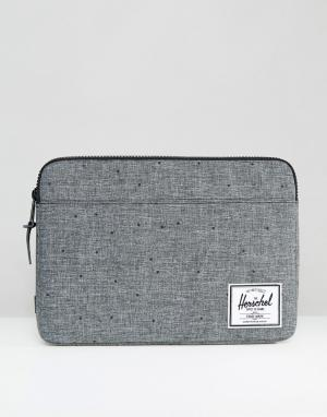 Herschel Supply Co Чехол для Macbook с диагональю 13 Anchor. Цвет: серый