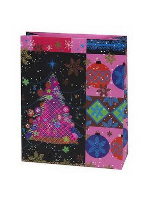 Пакет бумажный подарочный, 26х32х10см, 3 штуки СНОУБУМ. Цвет: розовый