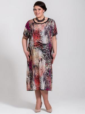 Платье Silver-String. Цвет: коралловый
