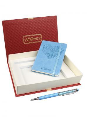 77001 Набор подарочный, Записная книжка+ручка-стилус Venuse. Цвет: голубой