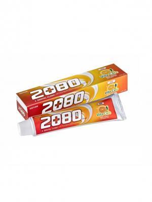 Набор Зубные пасты Dental Clinic 2080, Витаминный уход 120 гр 2 штуки 2080. Цвет: оранжевый