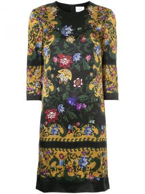 Платье Emma Erdem. Цвет: многоцветный