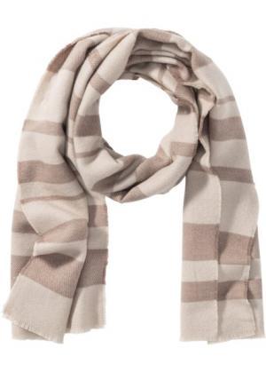Полосатая шаль (бежевый/светло-оливковый) bonprix. Цвет: бежевый/светло-оливковый