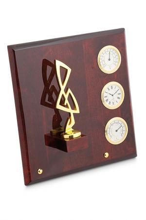 Плакетка Скрипичный ключ Linea del Tempo. Цвет: золотой