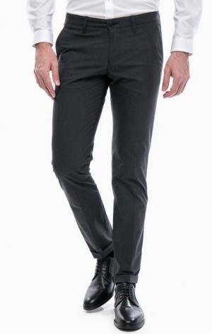 Серые зауженные брюки DRYKORN. Цвет: серый