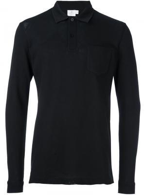 Рубашка-поло L/S Riviera Sunspel. Цвет: чёрный