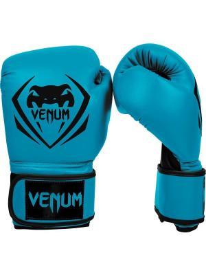 Перчатки боксерские Venum Contender - Blue. Цвет: голубой