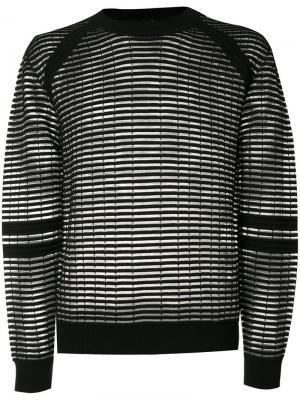 Прозрачный вязаный свитер Skingraft. Цвет: чёрный