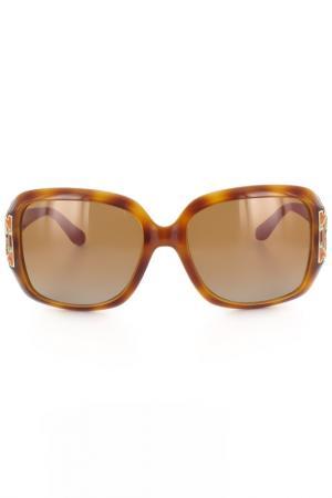 Очки солнцезащитные Salvatore Ferragamo. Цвет: светло-коричневый