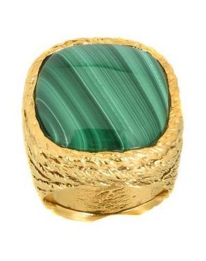 Кольцо AURÉLIE BIDERMANN. Цвет: зеленый