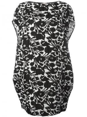 Платье шифт с цветочным принтом IM Isola Marras I'M. Цвет: чёрный