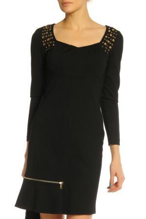 Платье Elisa Fanti. Цвет: черный, заклепки