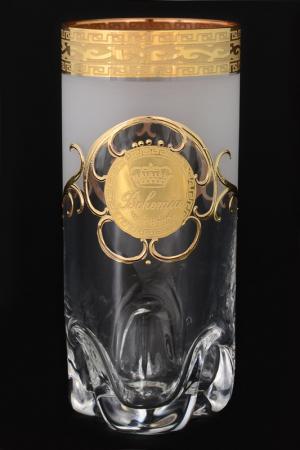 Стакан для воды, 6 шт Bohemia. Цвет: прозрачный, золотой