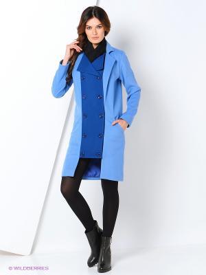 Пальто Maria Golubeva. Цвет: голубой