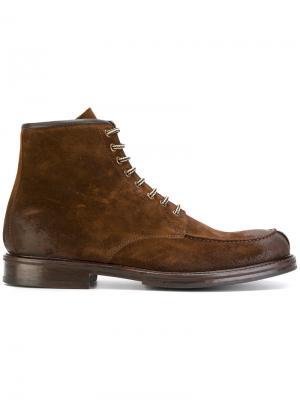 Ботинки на шнуровке Doucals Doucal's. Цвет: коричневый