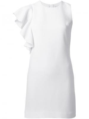 Платье с оборкой Elizabeth And James. Цвет: белый