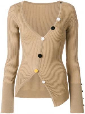 Button applique jumper Jacquemus. Цвет: коричневый