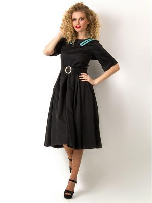 Платье Vika Smolyanitskaya. Цвет: черный, бирюзовый