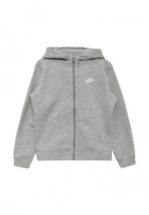 Толстовка Nike. Цвет: серый