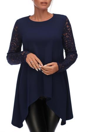 Блуза Петербургский Швейный Дом. Цвет: темно-синий