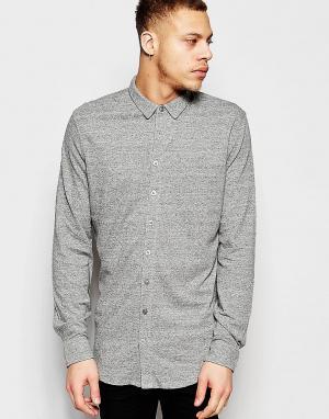 ADPT Рубашка классического кроя из ткани пике. Цвет: серый