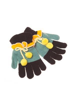 Перчатки Shapkoff. Цвет: зеленый, желтый, черный